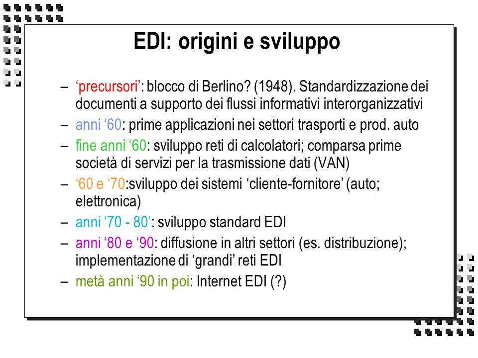 EDI: origini e sviluppo