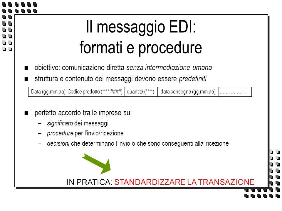 Il messaggio EDI: formati e procedure