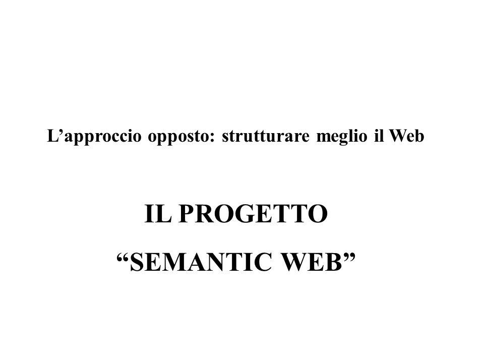 L'approccio opposto: strutturare meglio il Web