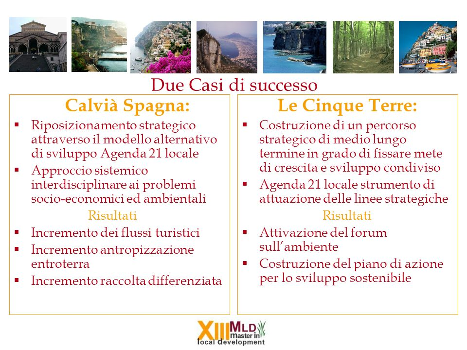Due Casi di successo Le Cinque Terre: Calvià Spagna: