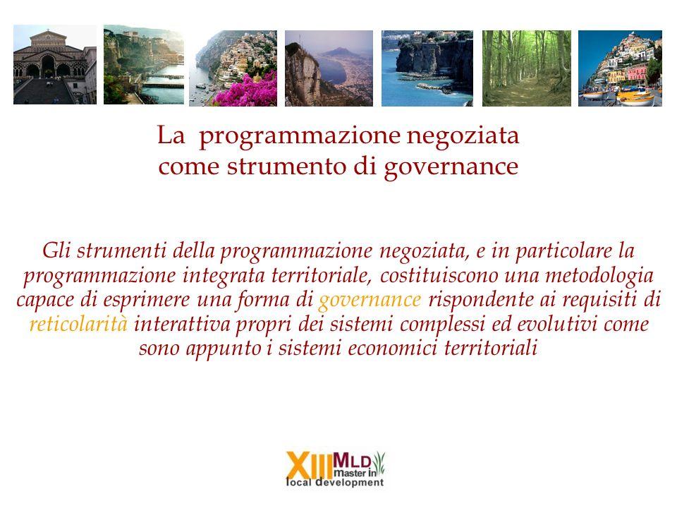 La programmazione negoziata come strumento di governance