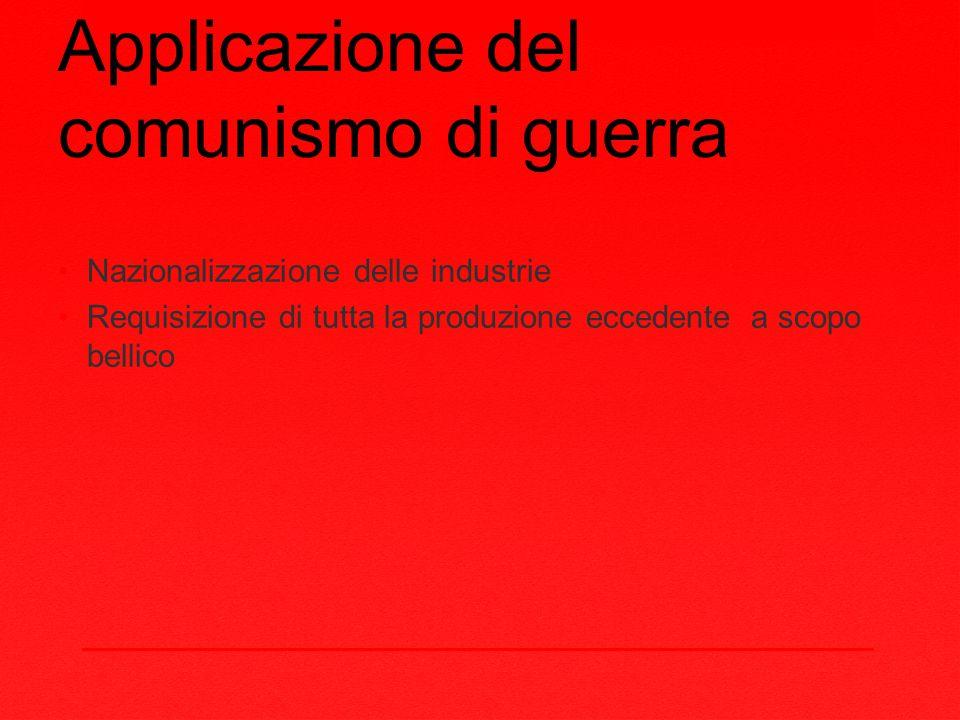 Applicazione del comunismo di guerra