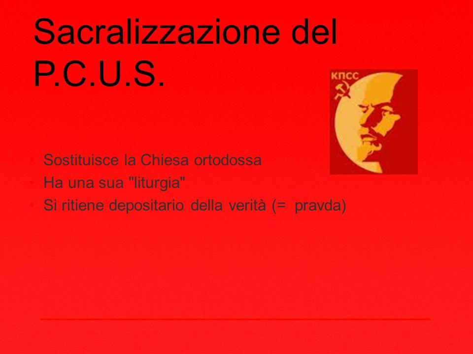 Sacralizzazione del P.C.U.S.