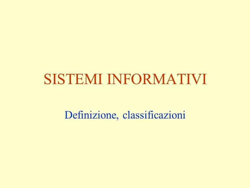 Definizione, classificazioni