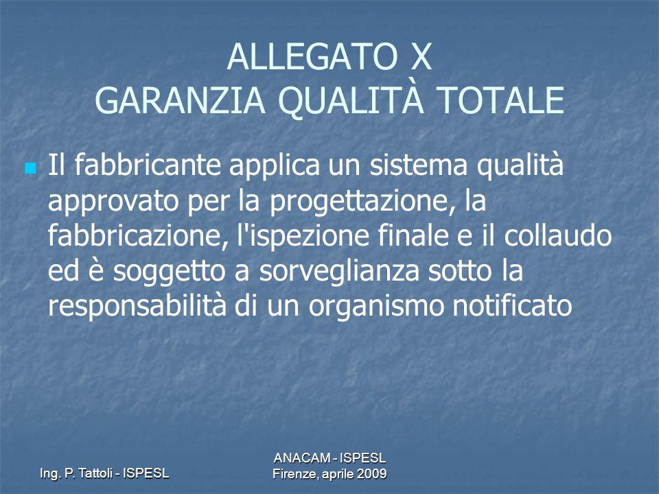 ALLEGATO X GARANZIA QUALITÀ TOTALE