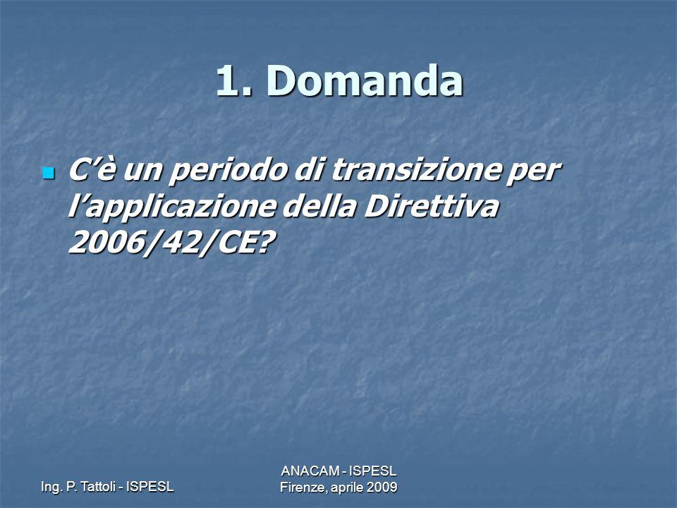 ANACAM - ISPESL Firenze, aprile 2009