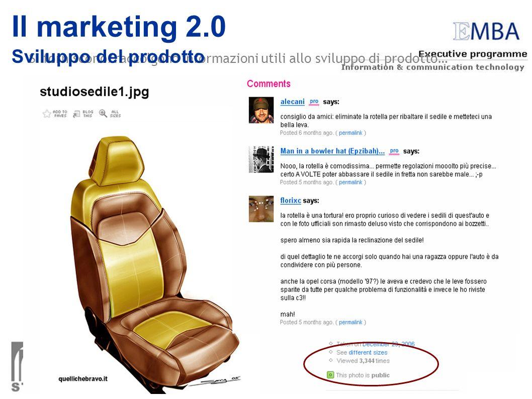 Il marketing 2.0 Sviluppo del prodotto