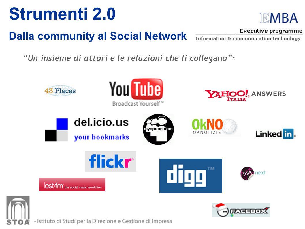 Strumenti 2.0 Dalla community al Social Network