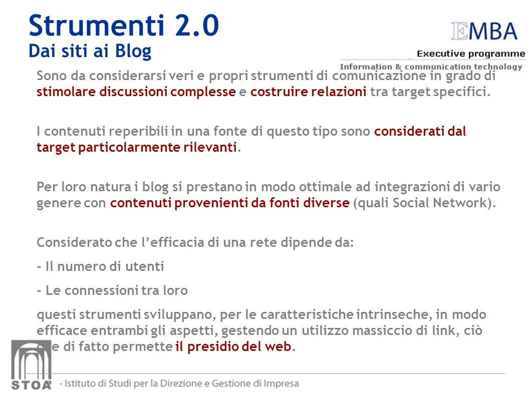 Strumenti 2.0 Dai siti ai Blog