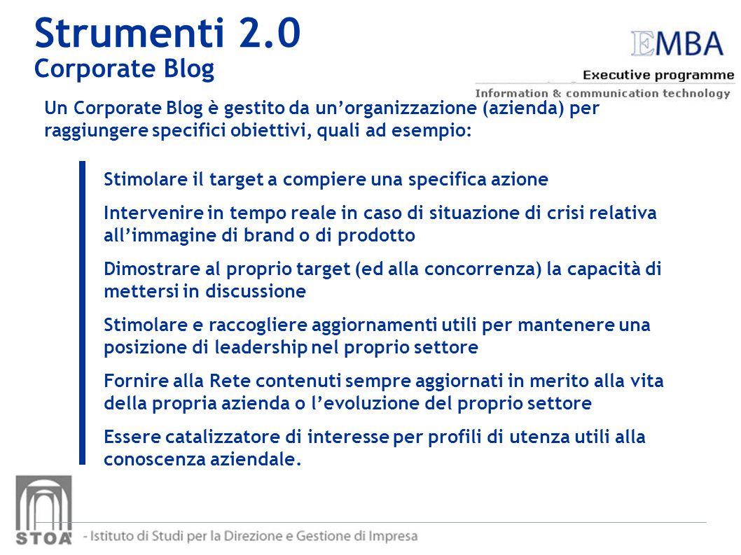 Strumenti 2.0 Corporate Blog