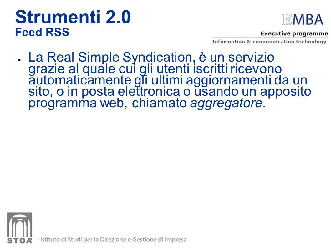 Strumenti 2.0 Feed RSS.