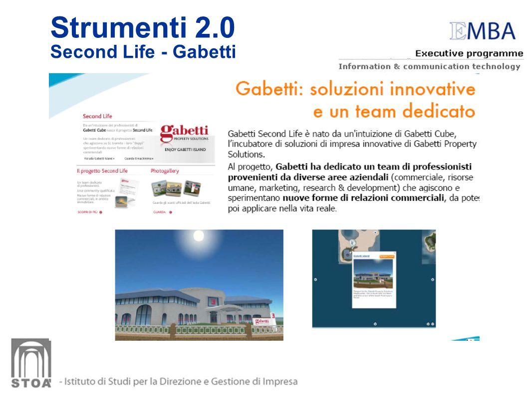 Strumenti 2.0 Second Life - Gabetti