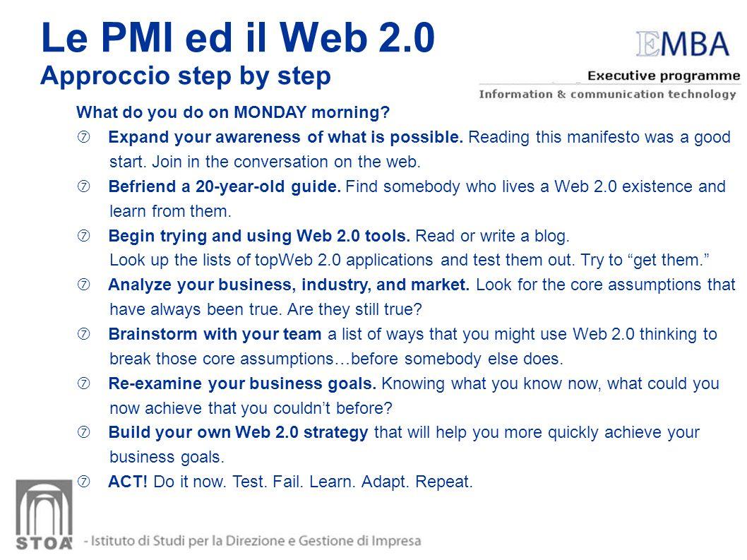 Le PMI ed il Web 2.0 Approccio step by step