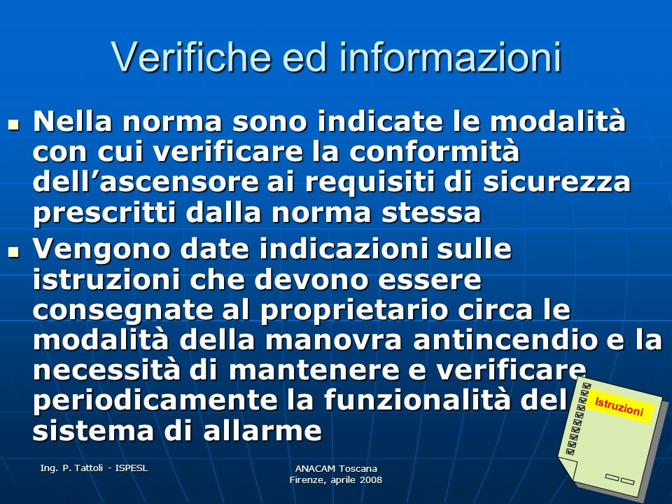 Verifiche ed informazioni