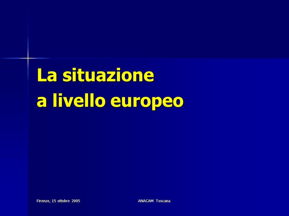 La situazione a livello europeo Firenze, 15 ottobre 2005