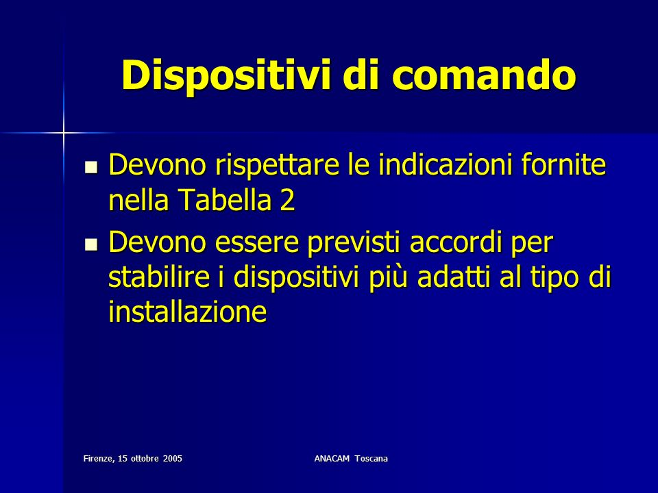 Dispositivi di comando
