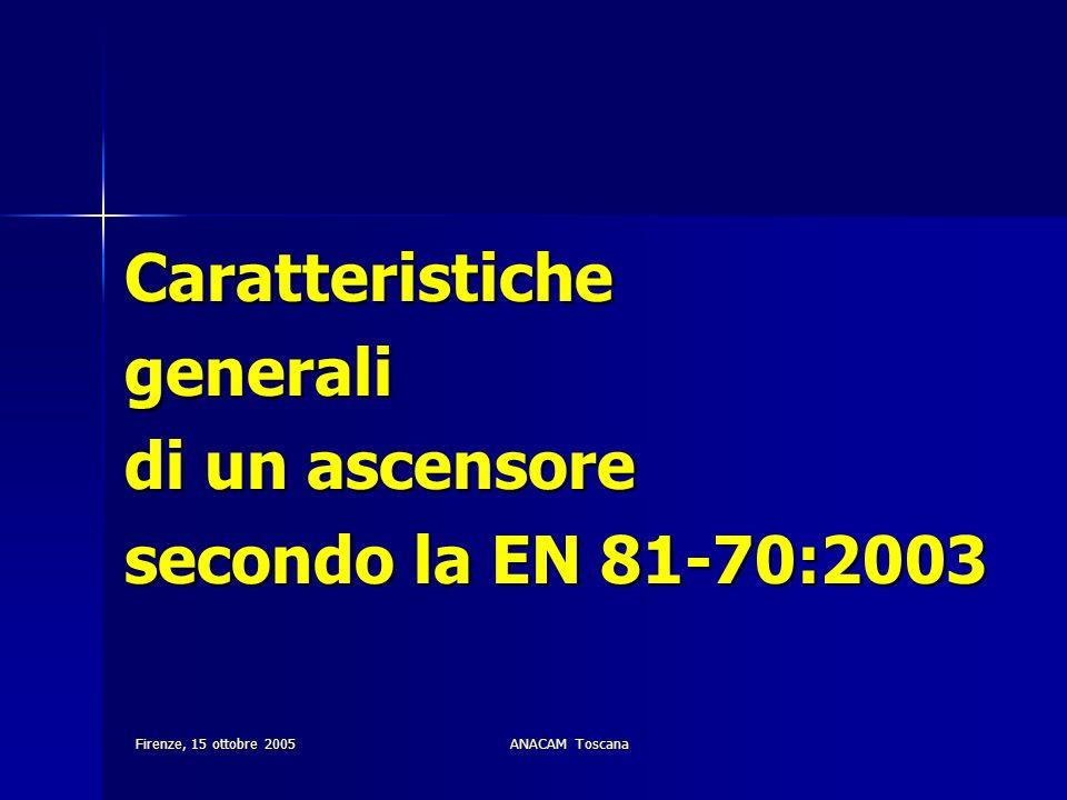 Caratteristiche generali di un ascensore secondo la EN 81-70:2003