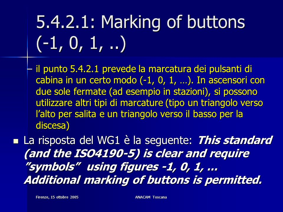 5.4.2.1: Marking of buttons (-1, 0, 1, ..)