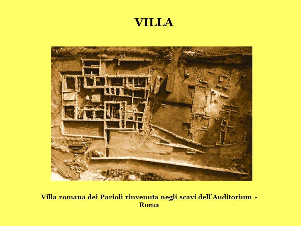 Villa romana dei Parioli rinvenuta negli scavi dell'Auditorium - Roma