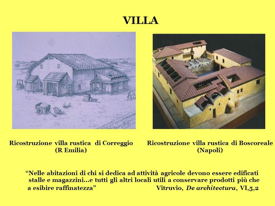 VILLA Ricostruzione villa rustica di Correggio. (R Emilia) Ricostruzione villa rustica di Boscoreale.