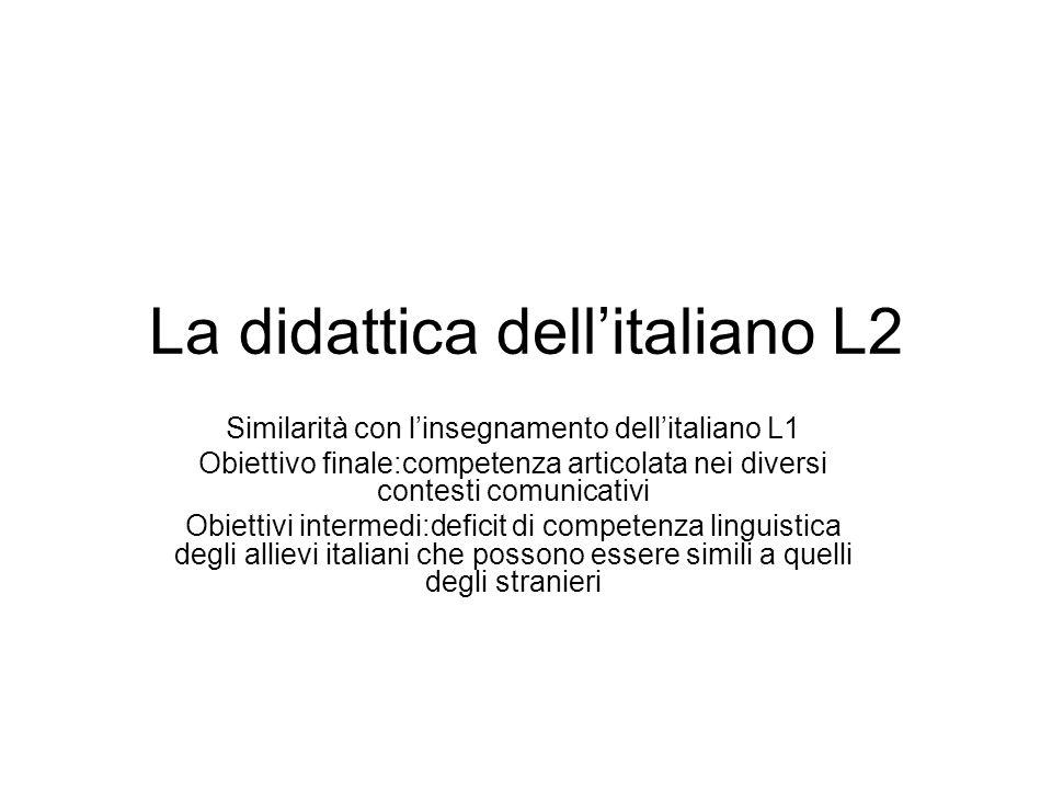 La didattica dell'italiano L2