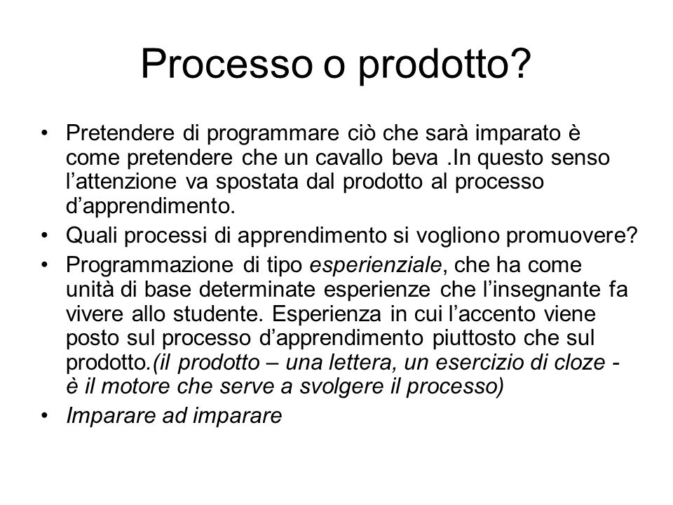 Processo o prodotto