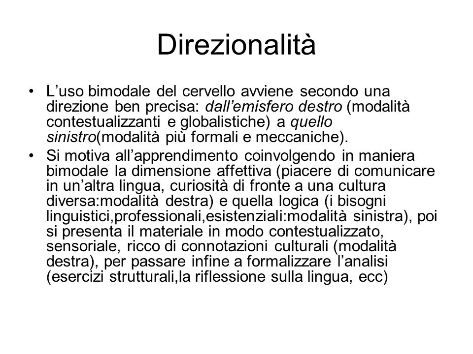 Direzionalità