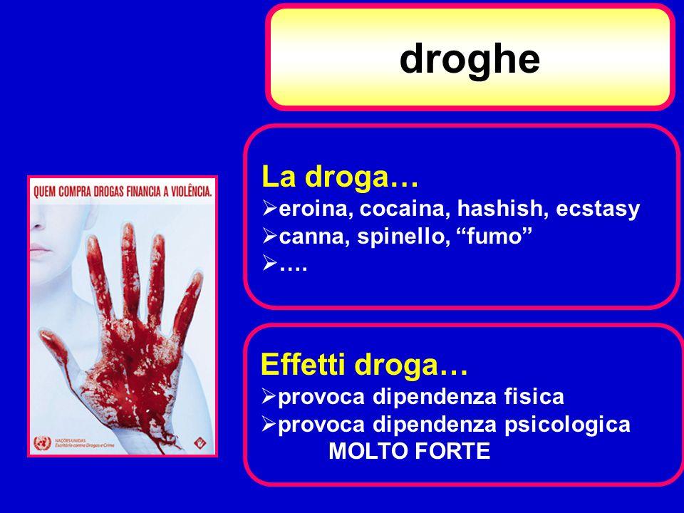 droghe La droga… Effetti droga… eroina, cocaina, hashish, ecstasy