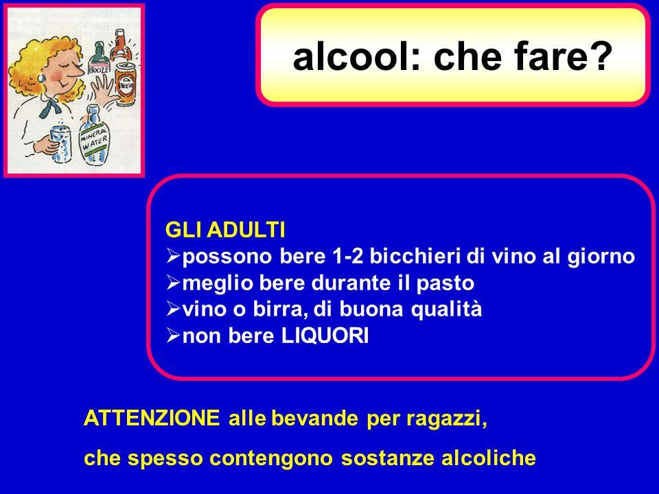 alcool: che fare GLI ADULTI