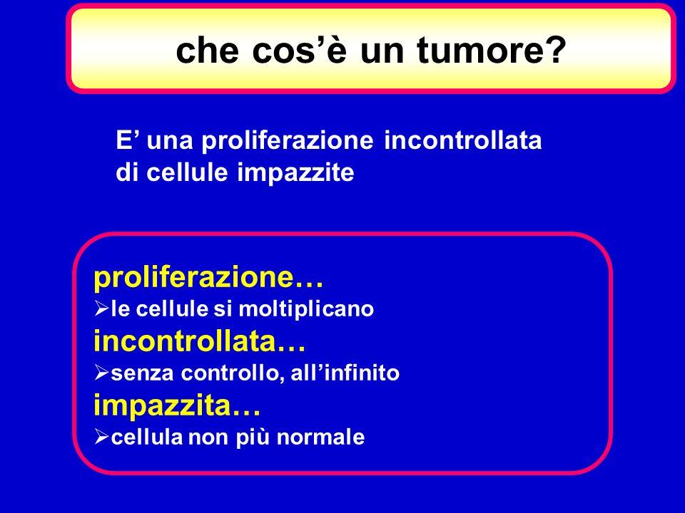 che cos'è un tumore proliferazione… incontrollata… impazzita…