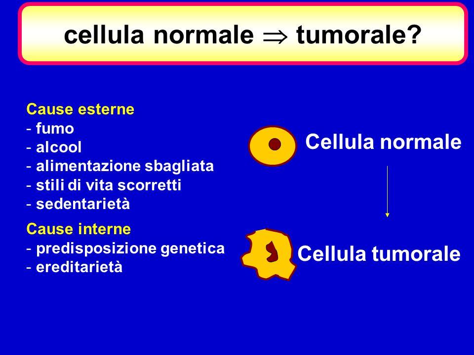 cellula normale  tumorale