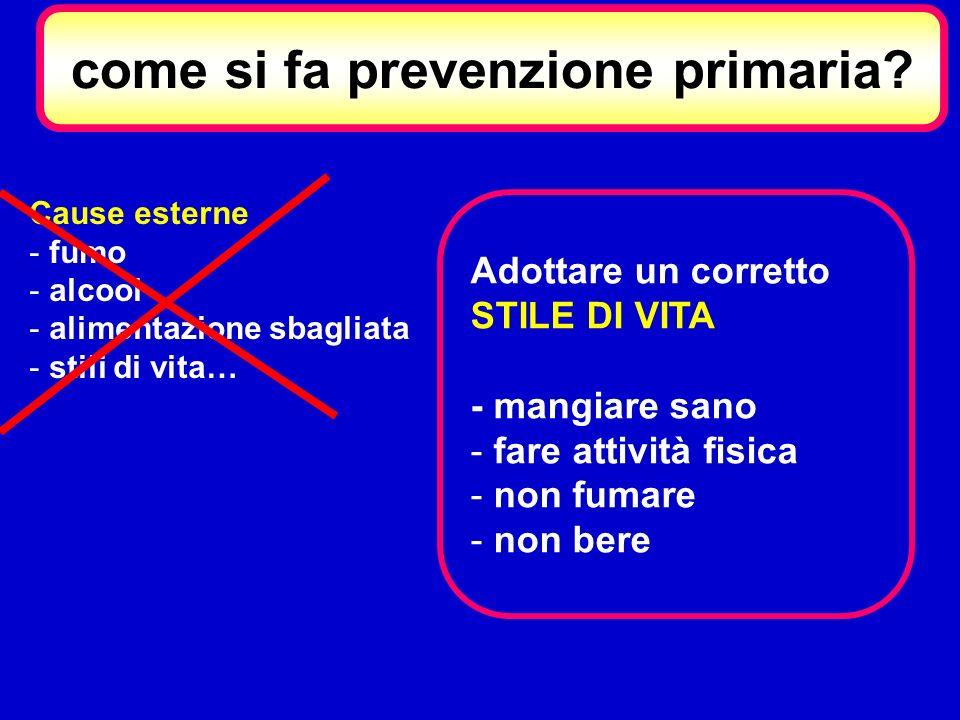 come si fa prevenzione primaria