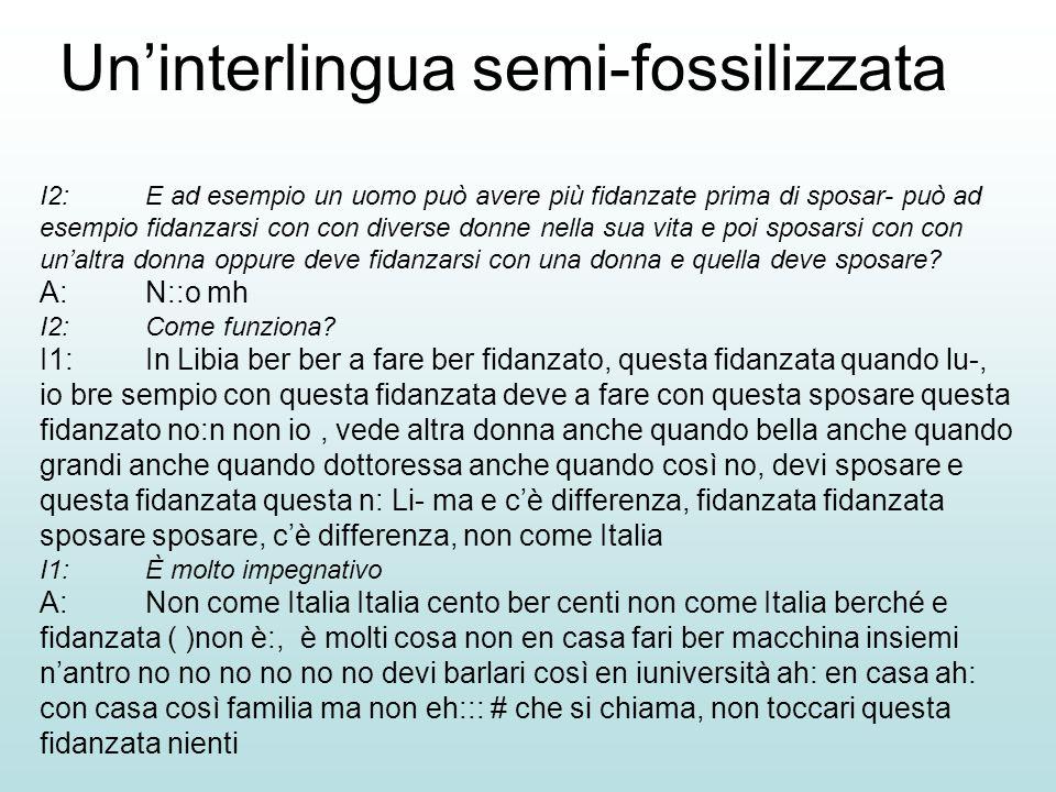 Un'interlingua semi-fossilizzata
