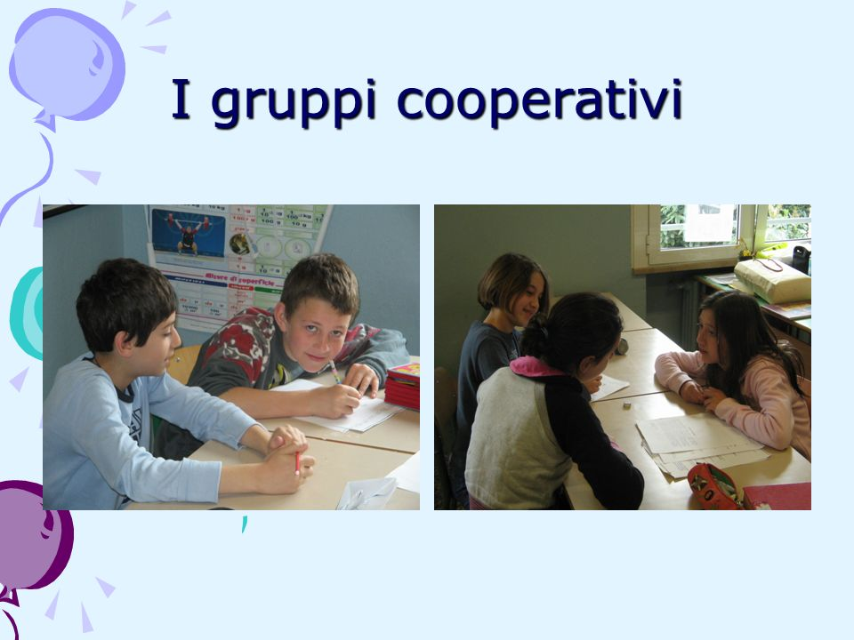 I gruppi cooperativi