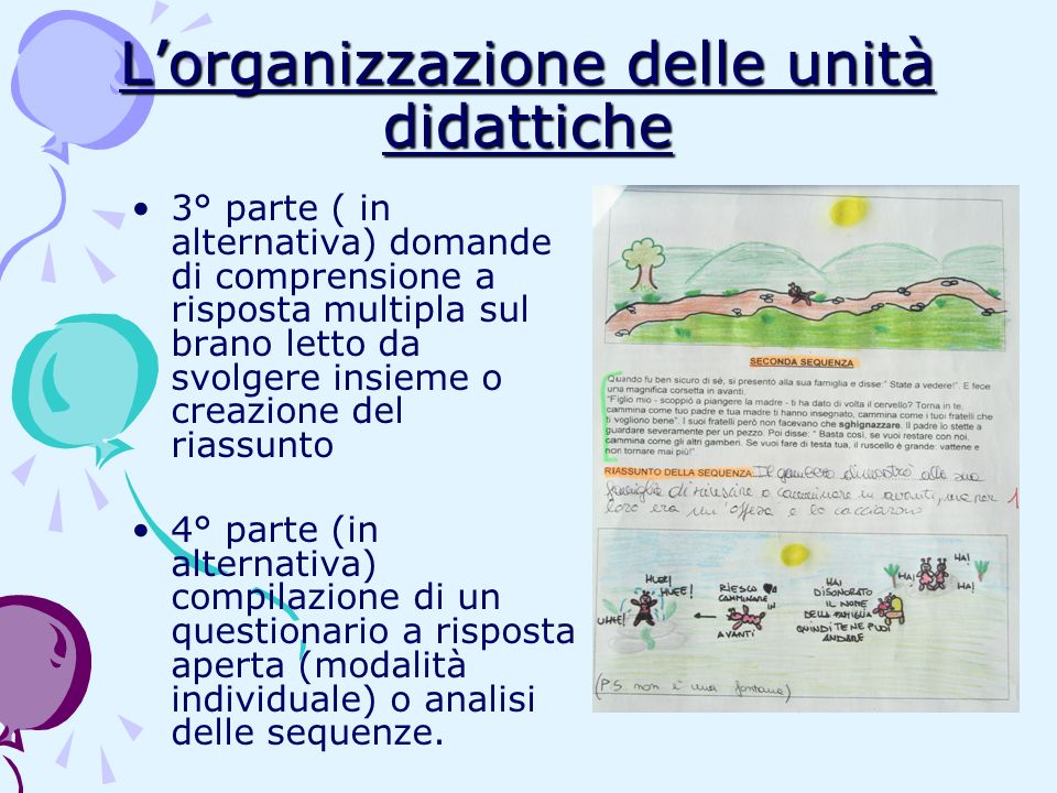L'organizzazione delle unità didattiche