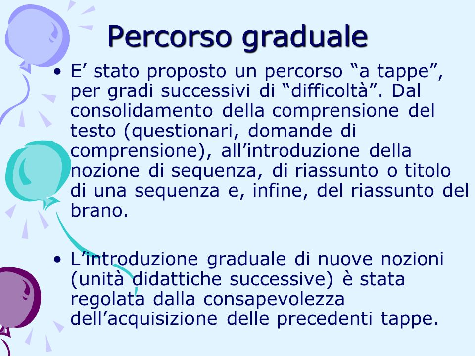 Percorso graduale