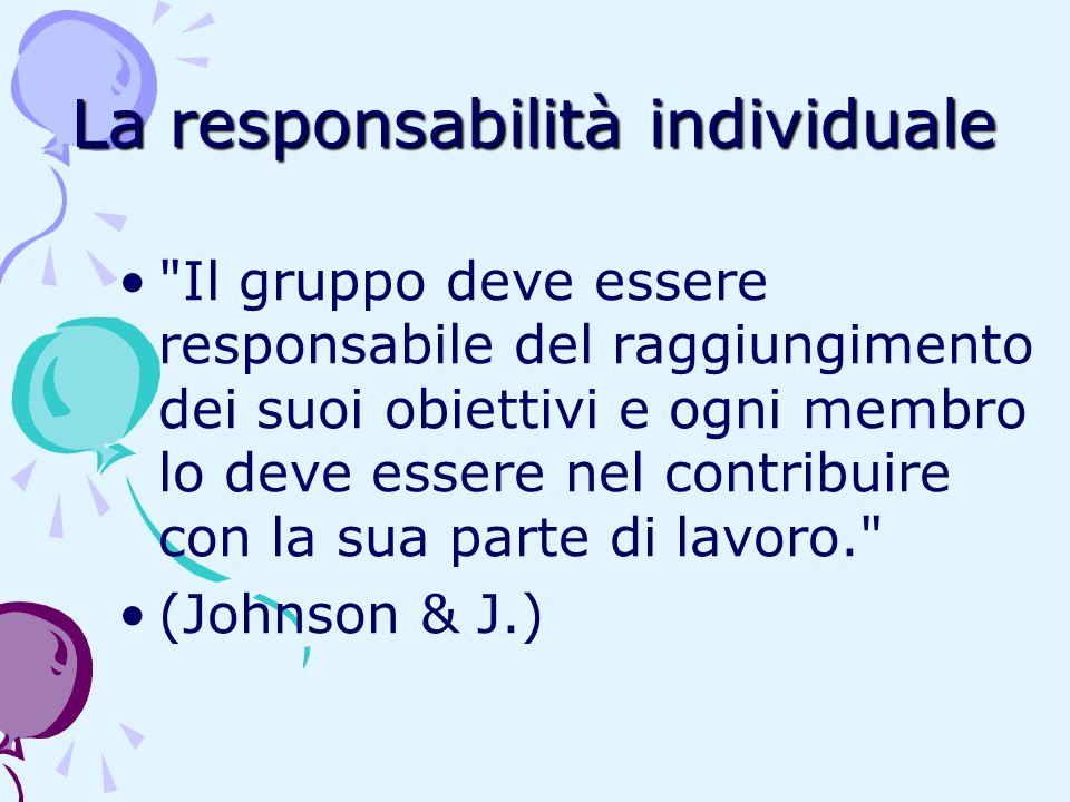 La responsabilità individuale