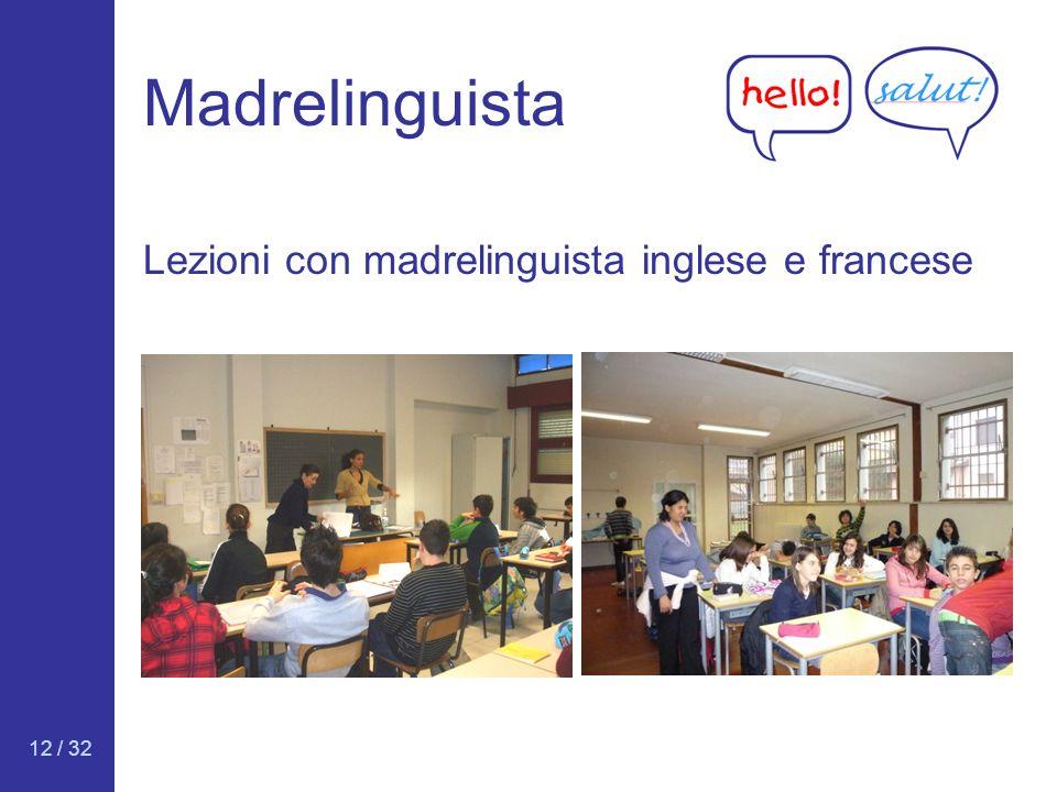 Madrelinguista Lezioni con madrelinguista inglese e francese