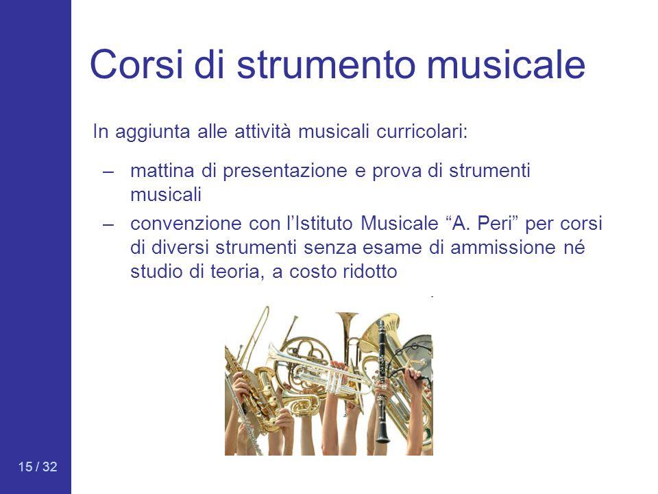 Corsi di strumento musicale