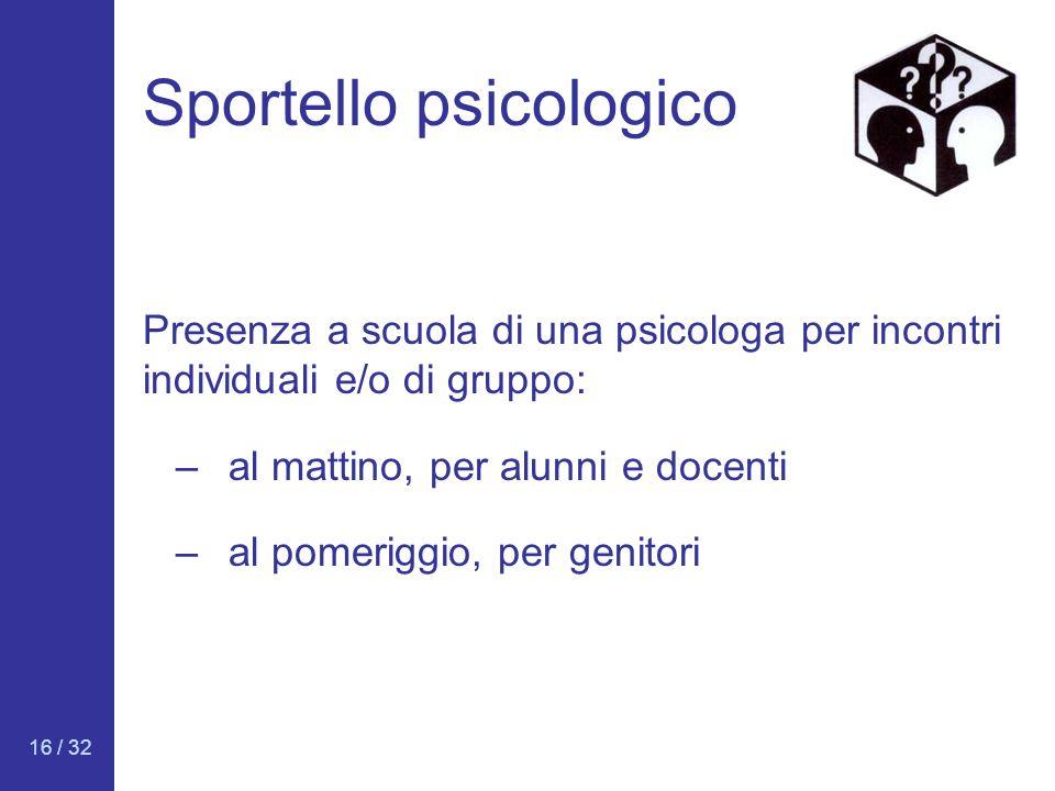 Sportello psicologico