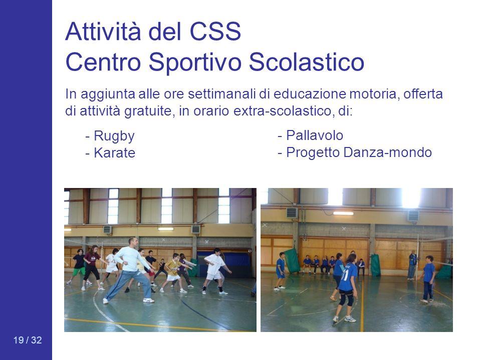Attività del CSS Centro Sportivo Scolastico