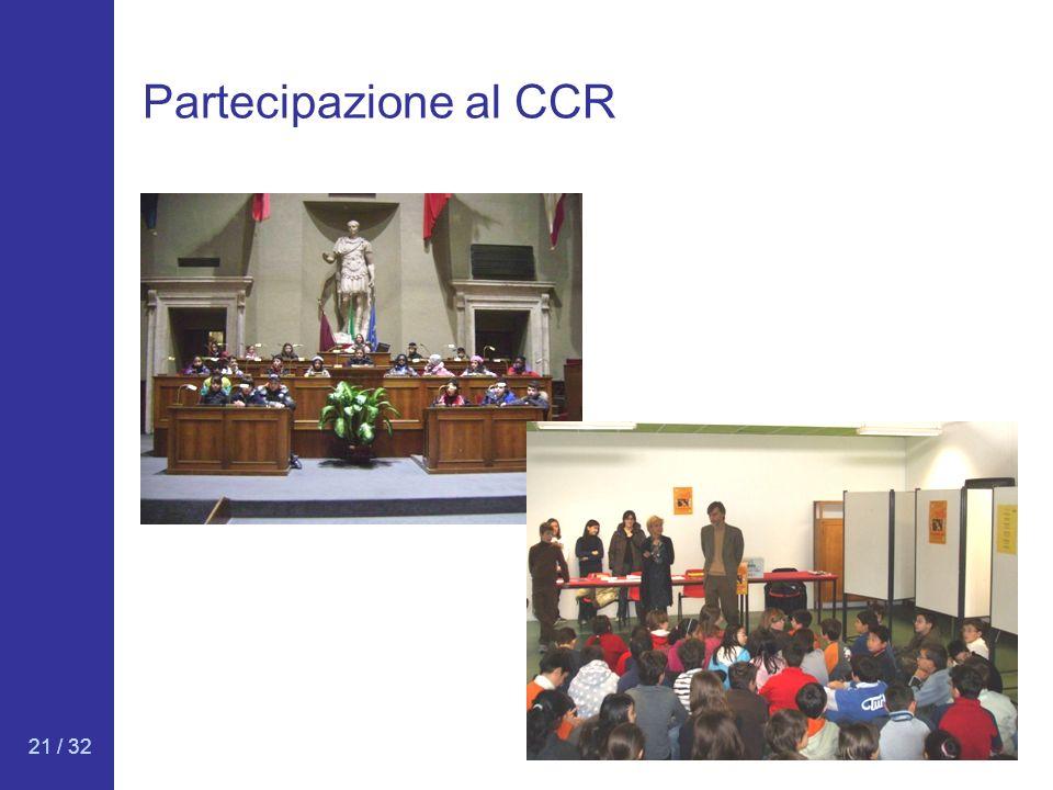 Partecipazione al CCR