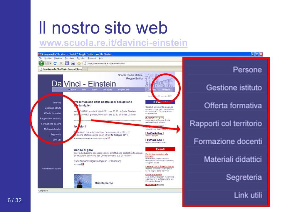 Il nostro sito web www.scuola.re.it/davinci-einstein 6 / 32