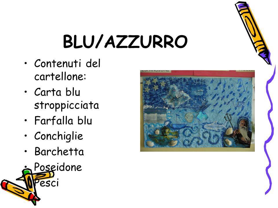 BLU/AZZURRO Contenuti del cartellone: Carta blu stroppicciata