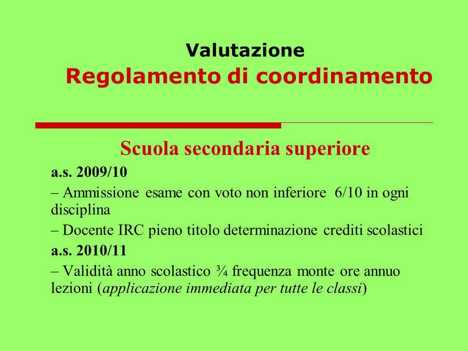 Valutazione Regolamento di coordinamento