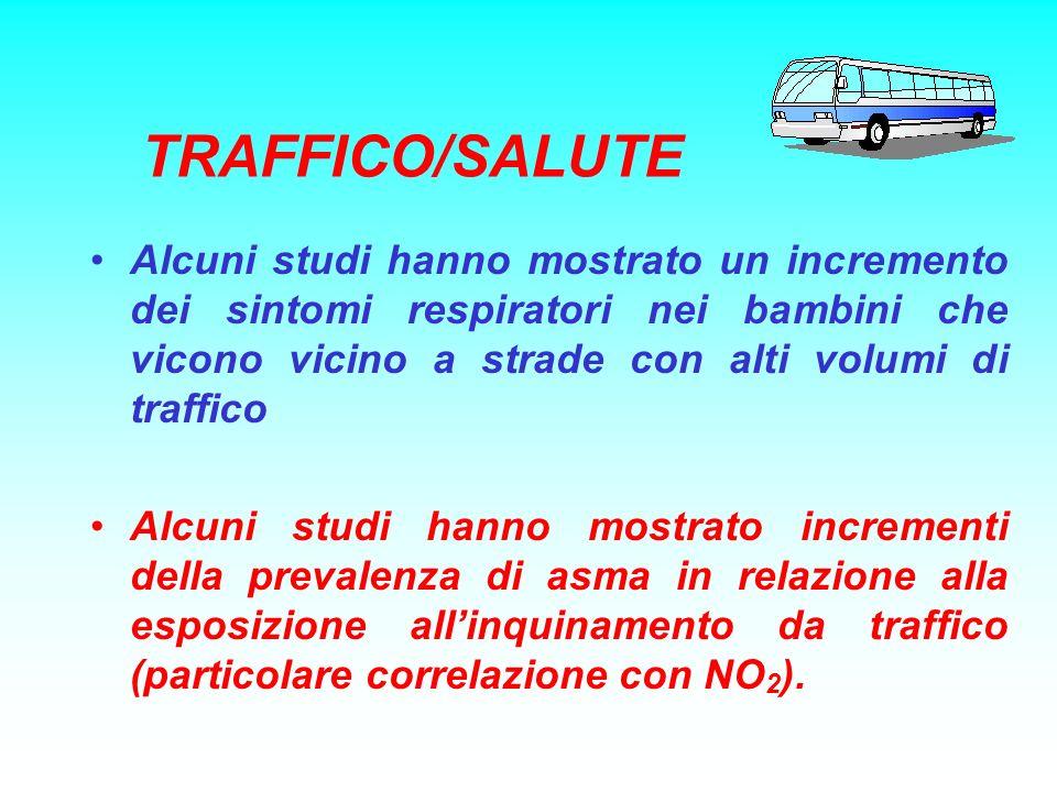 TRAFFICO/SALUTE Alcuni studi hanno mostrato un incremento dei sintomi respiratori nei bambini che vicono vicino a strade con alti volumi di traffico.