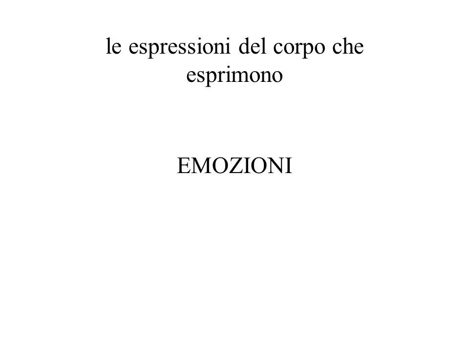 le espressioni del corpo che esprimono