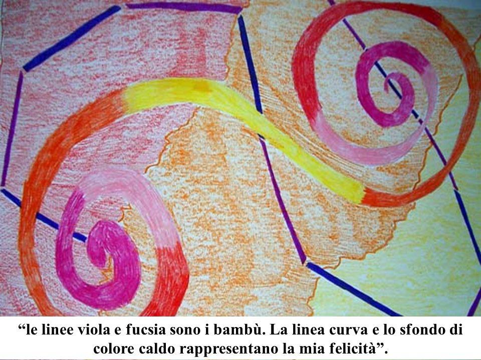 le linee viola e fucsia sono i bambù