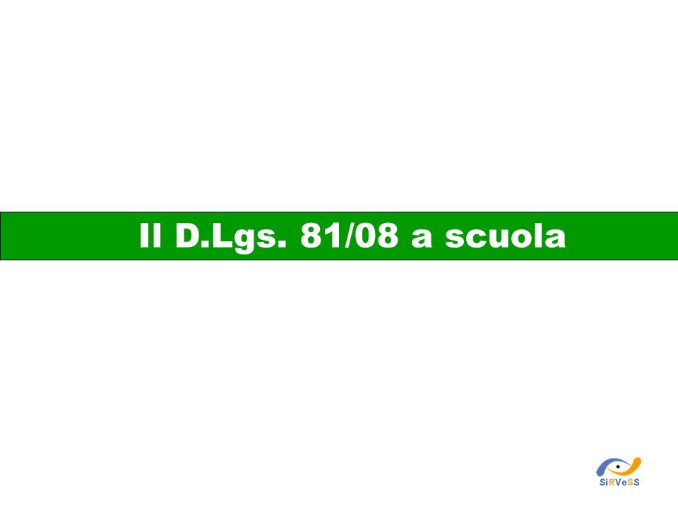 Il D.Lgs. 81/08 a scuola 11