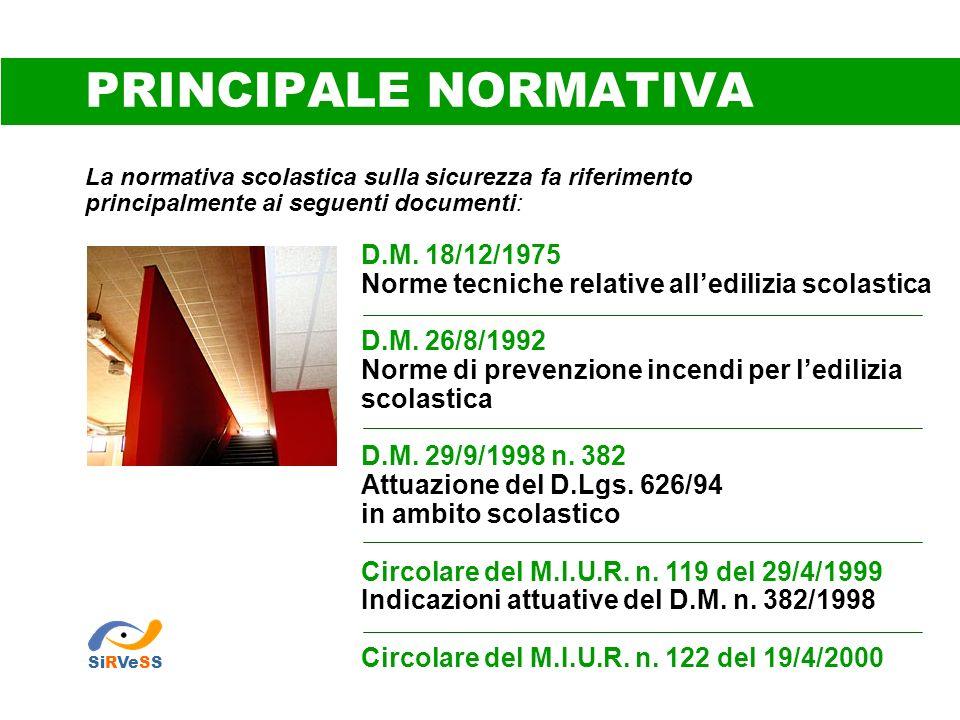PRINCIPALE NORMATIVA D.M. 18/12/1975
